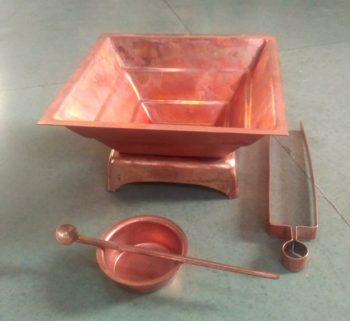Agnihotra set of copper utensils
